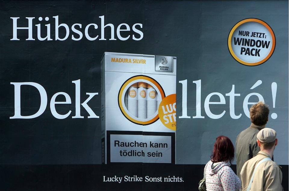 Allemagne : fin de la publicité pour le tabac