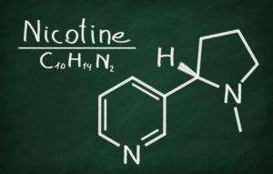 vape molécule nicotine base